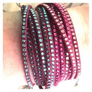 🔻PRICE DROP!🔻 Double wrap Swarovski bracelet